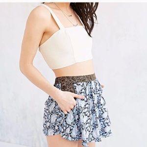 Blue floral skirt/shorts never worn